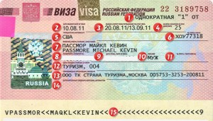 Keys how to read Russian Visa  ©2013 Moscow-Driver.com